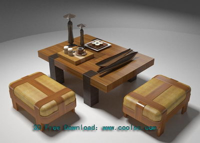 Link toWooden craft table 3d model