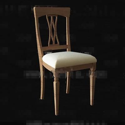 Link toWooden hollow seatback chair 3d model