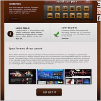 Link toWooden portfolio free psd template