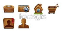 Wooden tool desktop icons