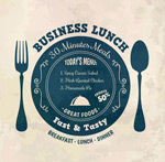 Link toWorking lunch menus vector