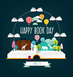 World book day poster vector