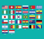 Link toWorld cup round of 32 flag vector