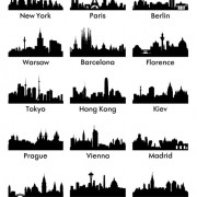 Link toWorld famous cities silhouettes vector set 03 free