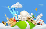 Link toWorld famous places vector