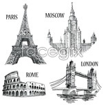 Link toWorld famous tourist attractions vector