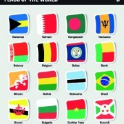 Link toWorld flags stickers design vector set 05