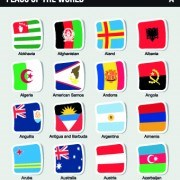 Link toWorld flags stickers design vector set 08