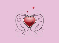 Wounded heart vector design free