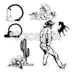Link toWrangler black and white vector