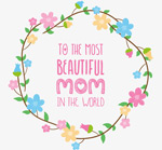 Link toWreath on mother's day greeting cards vector