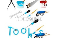 Wrench screwdriver small carts vector