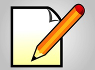 Writing icon vector free