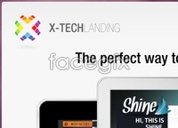 Link toX-tech landing page psd