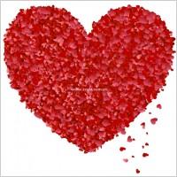 Link toXiaotao heart petals from the peach heart vector