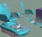 Link toXiu enough chairs pedicure chair 3dsmax 9 format model