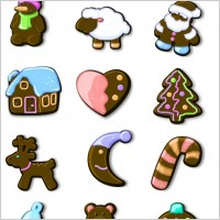 Link toXmas gingerbread icons pack