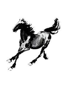 Link toXu beihong running horse figure ink painting psd