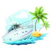 Link toYacht and travel background vector image free