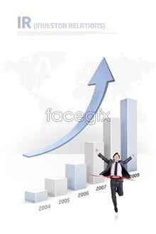 Link toYear of commercial statistics of successful people psd