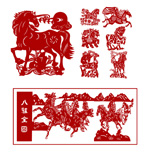 Link toYear of traditional paper-cut vector