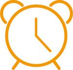Link toYellow alarm clock icon vector
