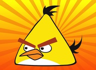 Yellow angry bird vector free