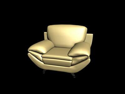 Link toYellow antique sofa 3d model