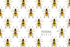 Link toYellow bee seamless vector background