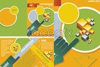 Link toYellow brochure design vector