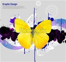 Link toYellow butterfly background graffiti korea design elements psd