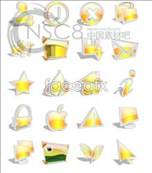 Link toYellow crystal cartoon icon
