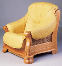 Link toYellow dermal sofa wood bottom single 3d models
