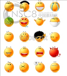 Yellow face desktop icons