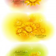 Link toYellow floral background vector