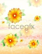 Link toYellow flower pattern psd