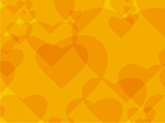 Link toYellow heart-shaped background vector