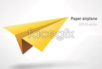 Link toYellow paper airplanes vector