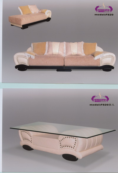Link toYellow sofa and coffee table 3d model of office