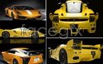 Link toYellow sports car psd