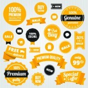 Link toYellow style sale labels vector 05