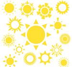 Link toYellow sun vector