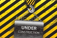 Link toYellow warning signs two vector