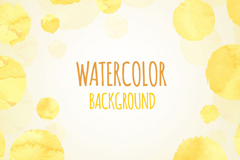 Link toYellow watercolor dots background vector