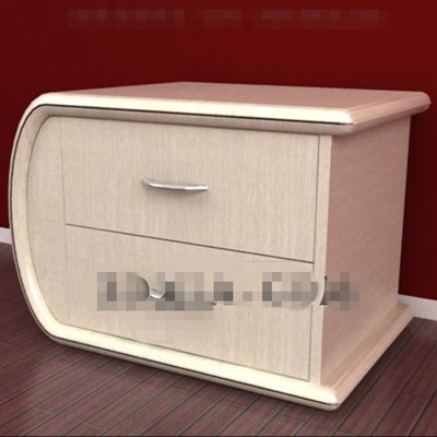 Link toYellowish curved bedside cabinets 3d model