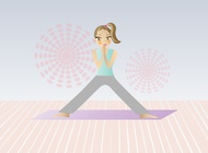 Link toYoga cartoon vector free