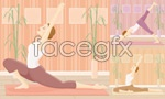 Link toYoga exercise women vector
