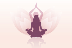 Link toYoga lotus background woman logo vector