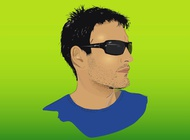 Link toYoung man vector free