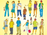 Young people vector free